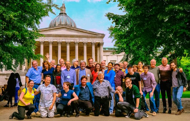Group photo of participants from Mud Huts, Haircuts And High School Dropouts: The 3Rd Annual Male Psychology Conference,  University College London, June 2016